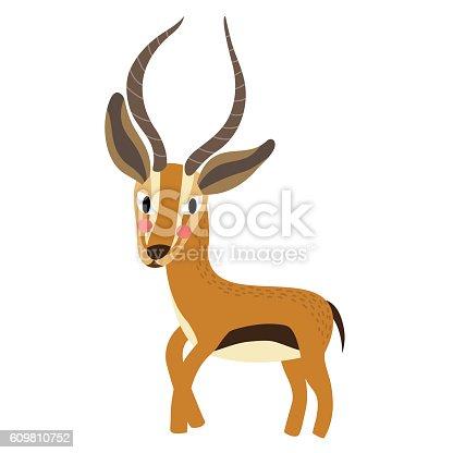 Gazelle animal cartoon character vector illustration stock vector art more images of africa - Gazelle dessin ...