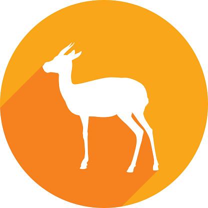 Gazelle Icon Silhouette