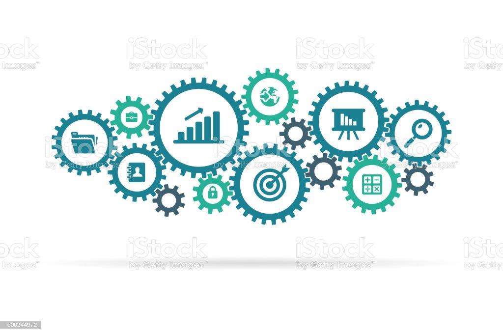 business e icone attrezzatura - illustrazione arte vettoriale