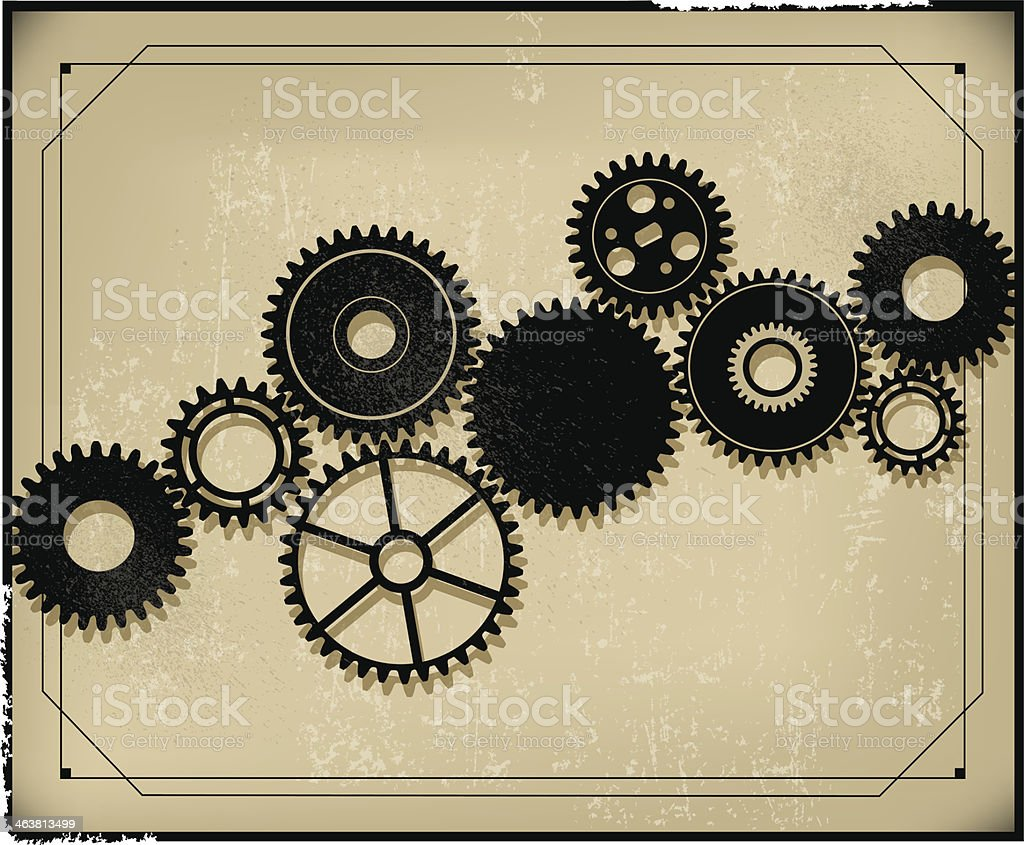 Gear Background - Retro Style royalty-free stock vector art