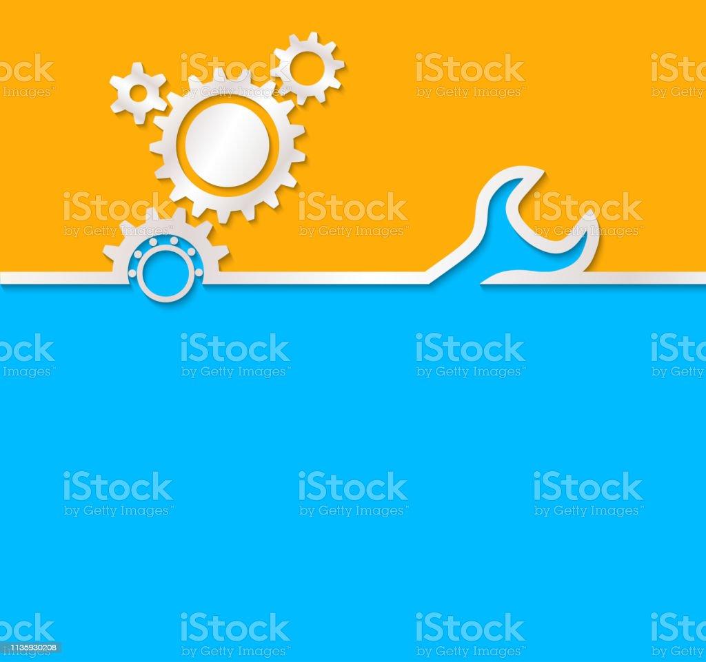 Fondo de engranaje. Fondo útil para la construcción, ingenieros, 1 de mayo, día del trabajo - ilustración de arte vectorial