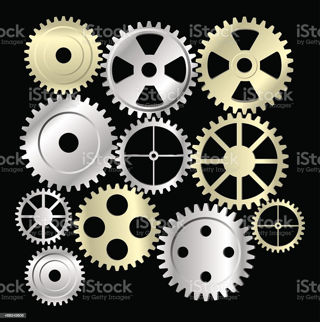 Gear collection machine collection of vector cogwheel and gears royalty-free gear collection machine collection of vector cogwheel and gears stock vector art & more images of 2015