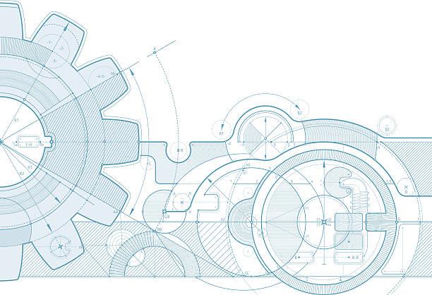 sprzęt projekt tło - produkować stock illustrations
