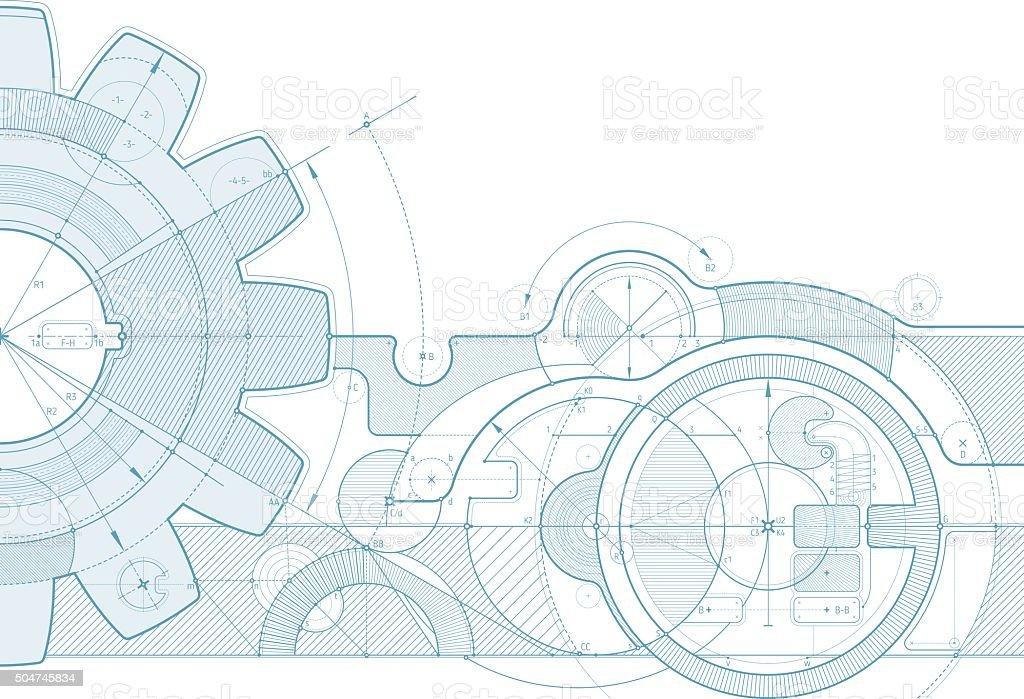 Équipement projet de fond - Illustration vectorielle
