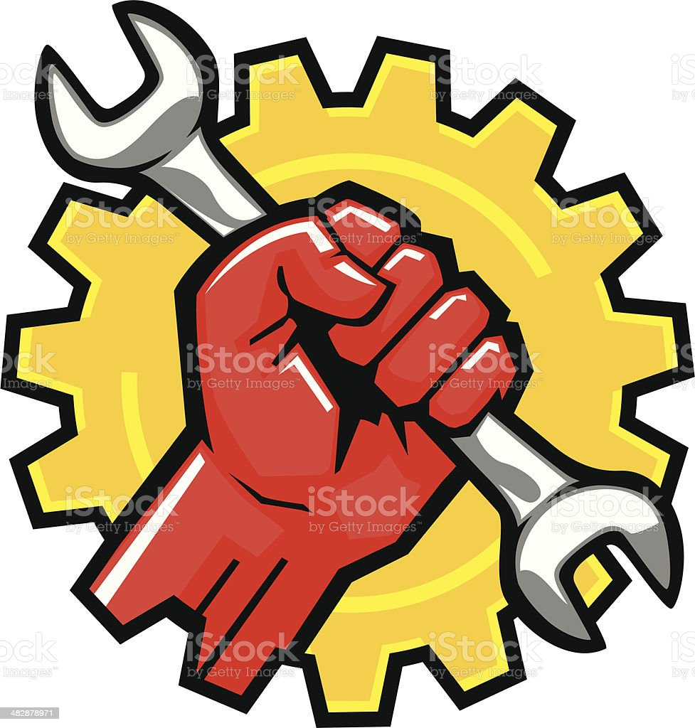 gear fist royalty-free stock vector art