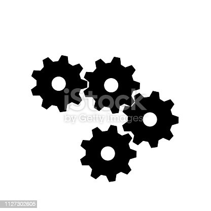 gear icon for design, and team work concept