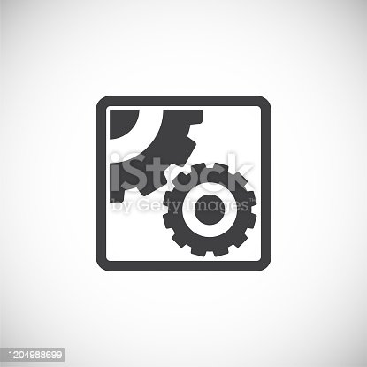 Gear icon on background for graphic and web design. Creative illustration concept symbol for web or mobile app