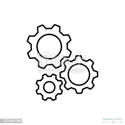 istock Gear icon, Outline icon, Business services, Technical help, Gear, Configuration, Support center 1024061294