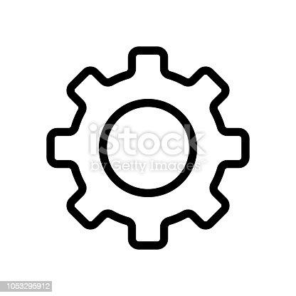 gear icon outline vector