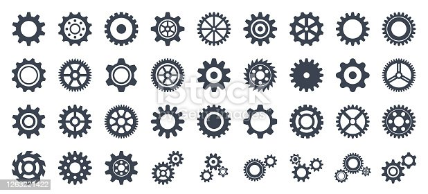 Gear Icon Set - Vector Collection of Gears
