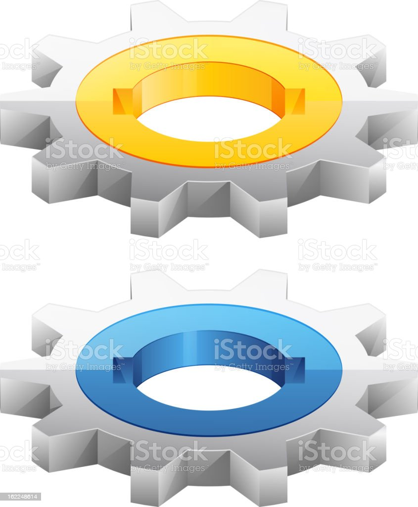 Gear Icon Set royalty-free stock vector art