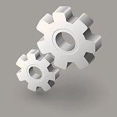 Gear icon EPS10 vector