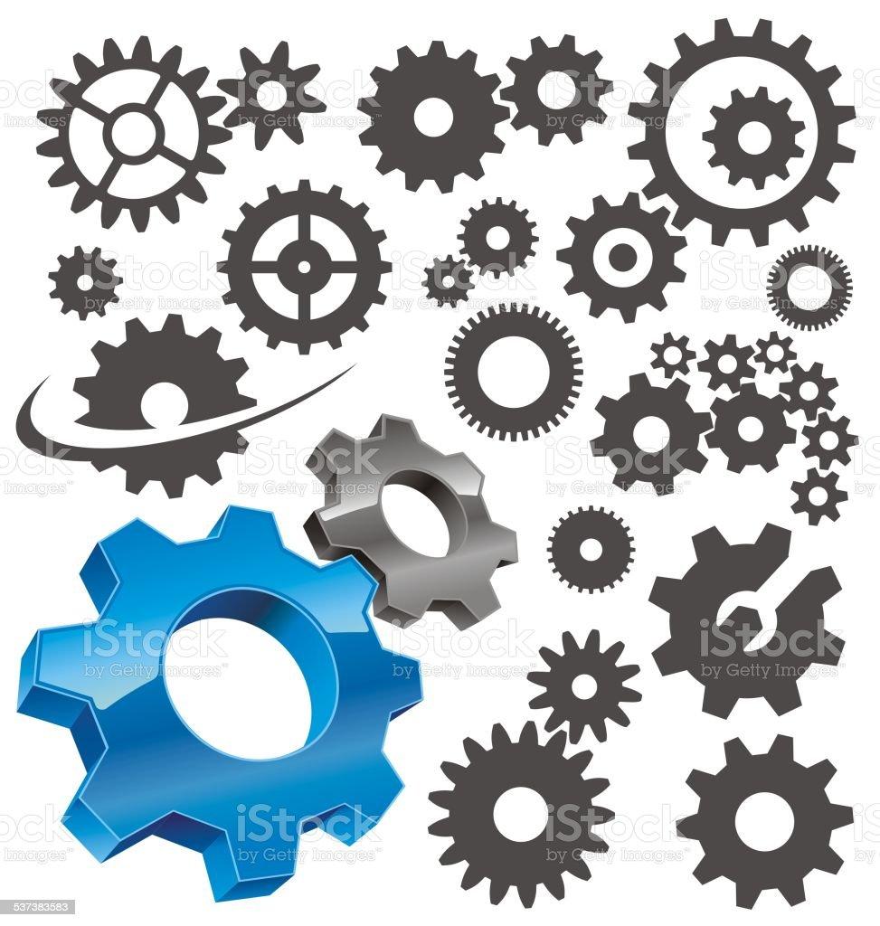 gear icon vector art illustration