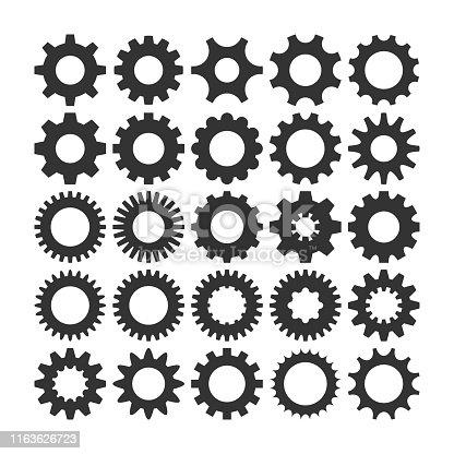 Gear Icon vector set, machine gear Icon collection, Gear Icon Eps10, Gear Icon Vector flat, Gear Icon image, Gear Icon vector design illustration, gear Icon Picture, Gear Icon App, Gear Icon Web, gear Icon Art
