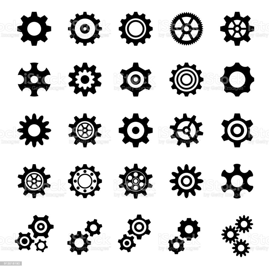 Gear Icons - Illustration vector art illustration