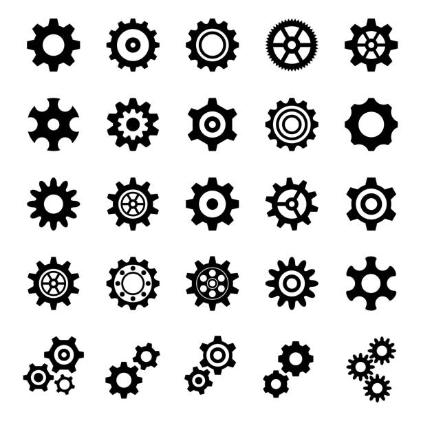Gear Icons - Illustration Gear Icons - Illustration arrange stock illustrations