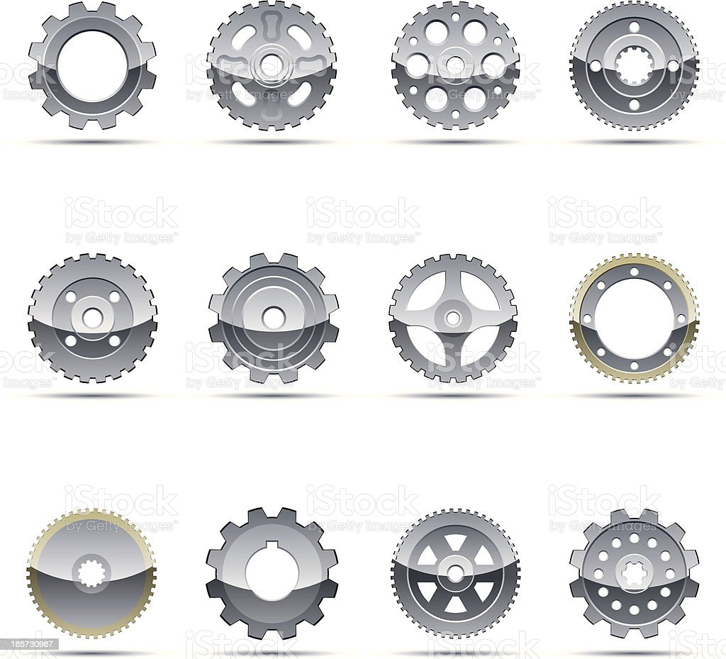 Gear Icons royalty-free stock vector art