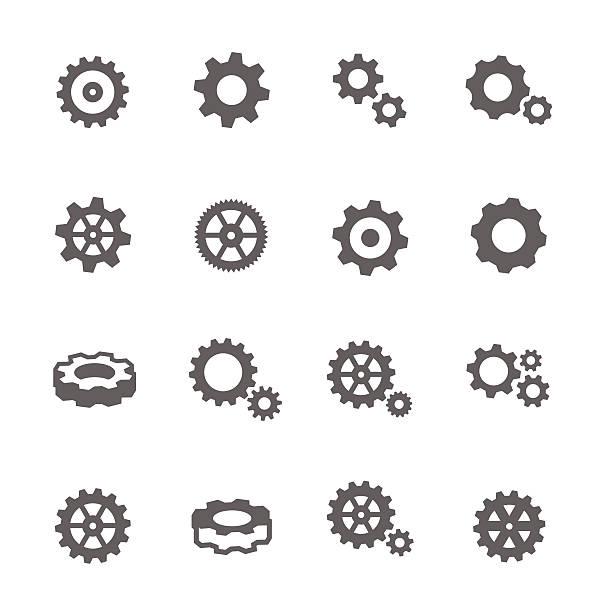 illustrazioni stock, clip art, cartoni animati e icone di tendenza di icone di attrezzatura - attrezzatura