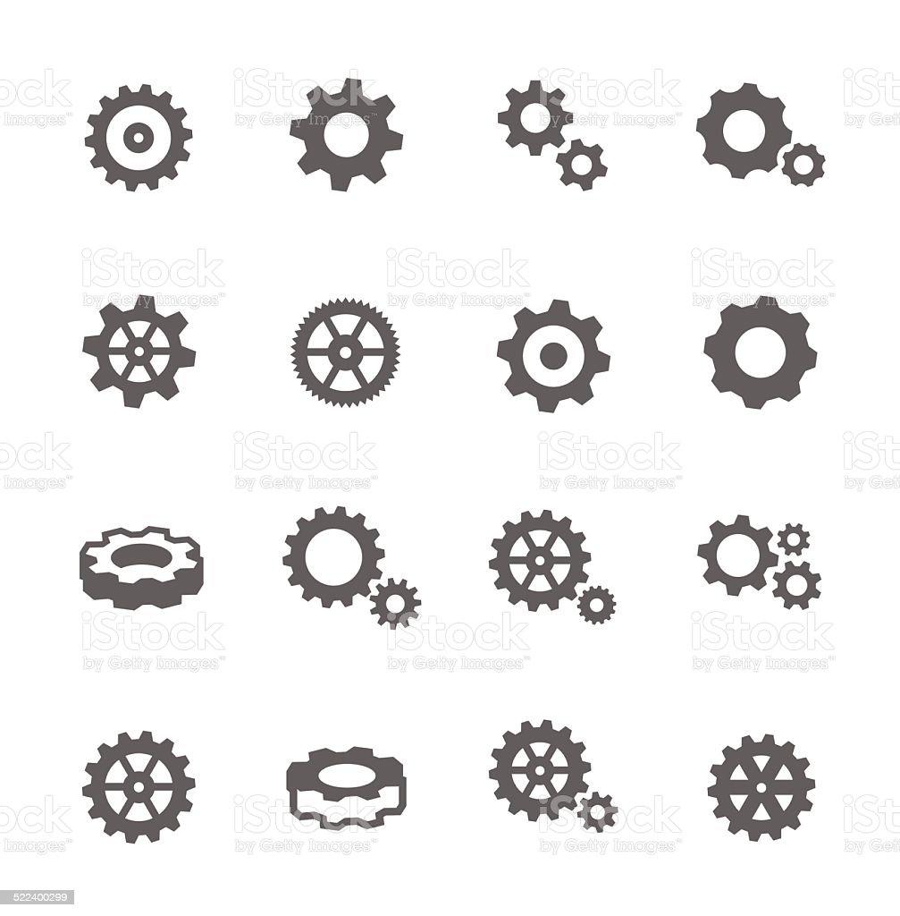 Icone di attrezzatura - illustrazione arte vettoriale