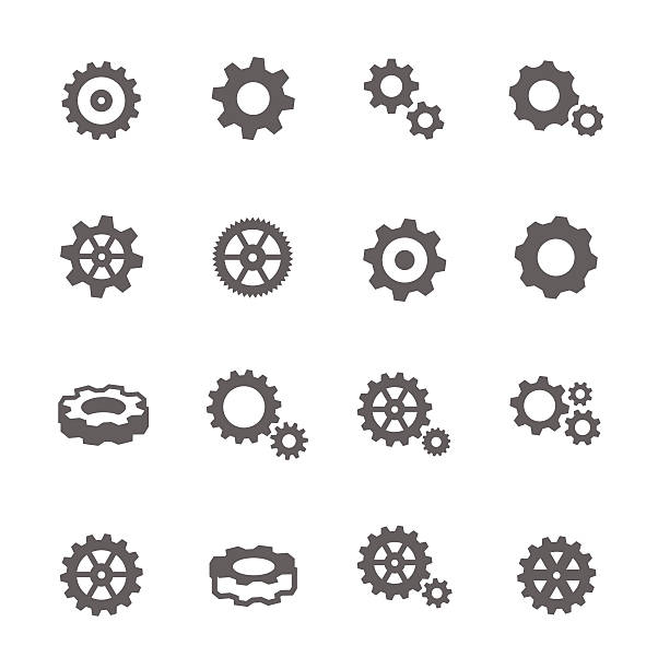 gear icons - ekipman stock illustrations