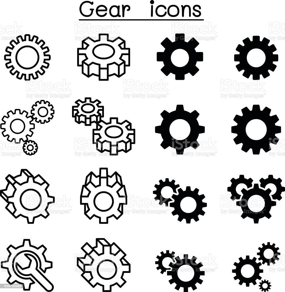 Gear icons vector art illustration