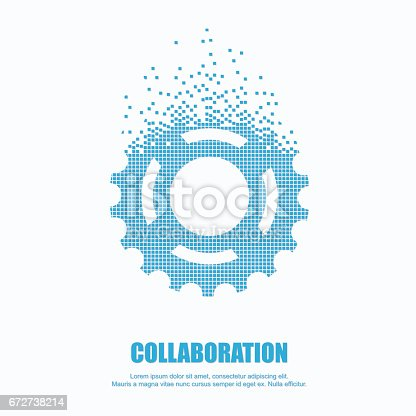 Gear in pixel for cooperation or teamwork