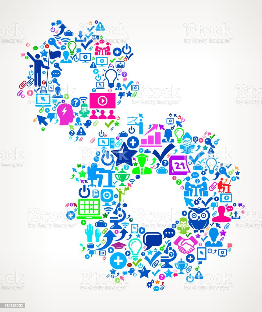 Gear éducation moderne et modèle icône de collège degrés gear éducation moderne et modèle icône de collège degrés – cliparts vectoriels et plus d'images de 20-24 ans libre de droits
