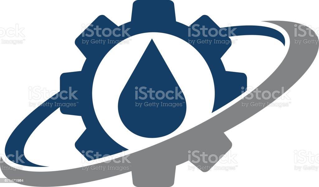 Gear Oil Solution vector art illustration