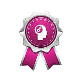 Gear Pink Vector Icon Design