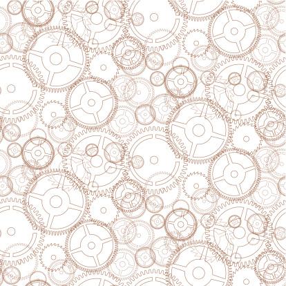 Gear seamless pattern