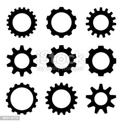 Industrial Gear - Wheel Set on the White Background