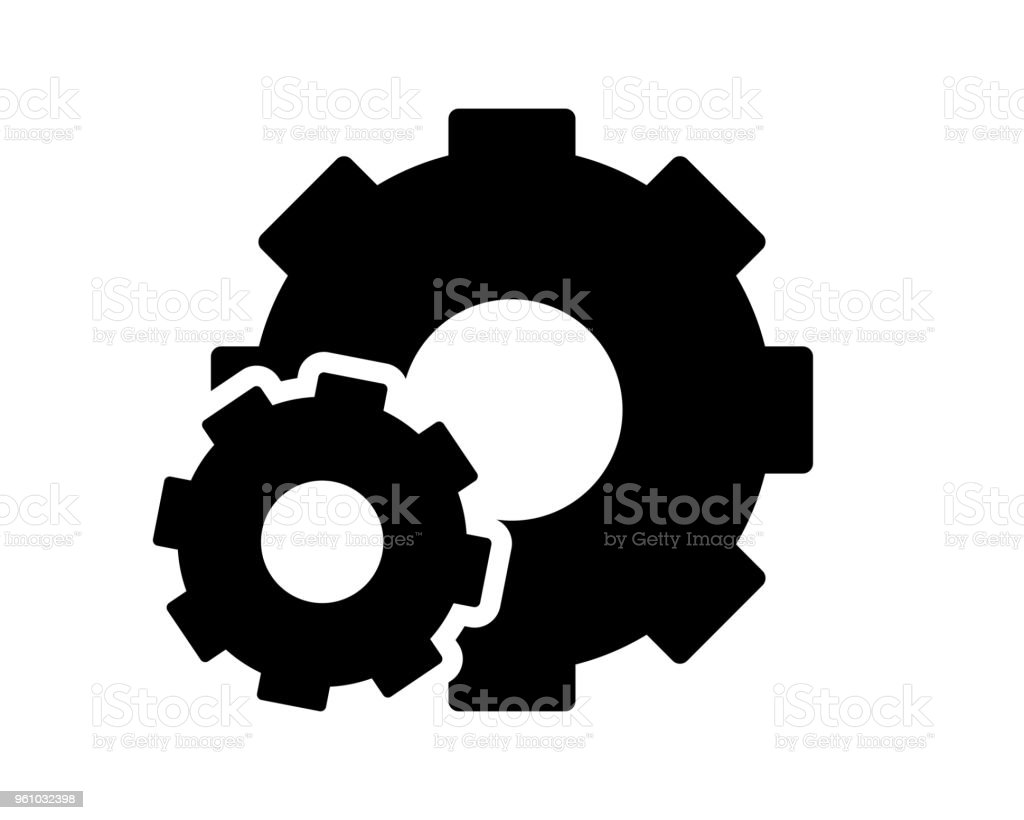 Gear Setting Icon Design Illustrationglyph Style Design Stock Illustration Download Image Now Istock