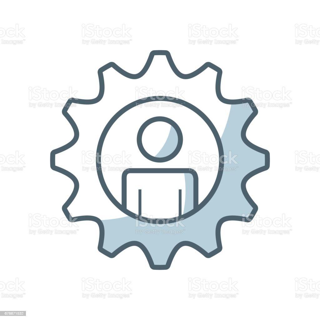 icône d'engrenage paramètres isolés icône dengrenage paramètres isolés – cliparts vectoriels et plus d'images de affaires libre de droits