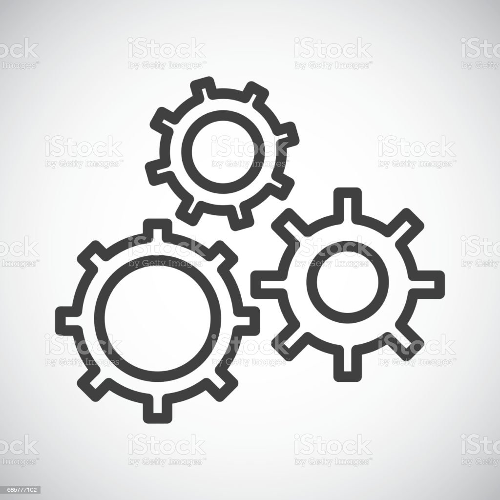 Gear. Silhouette icon design. Vector graphic royalty-free gear silhouette icon design vector graphic stock vector art & more images of business finance and industry
