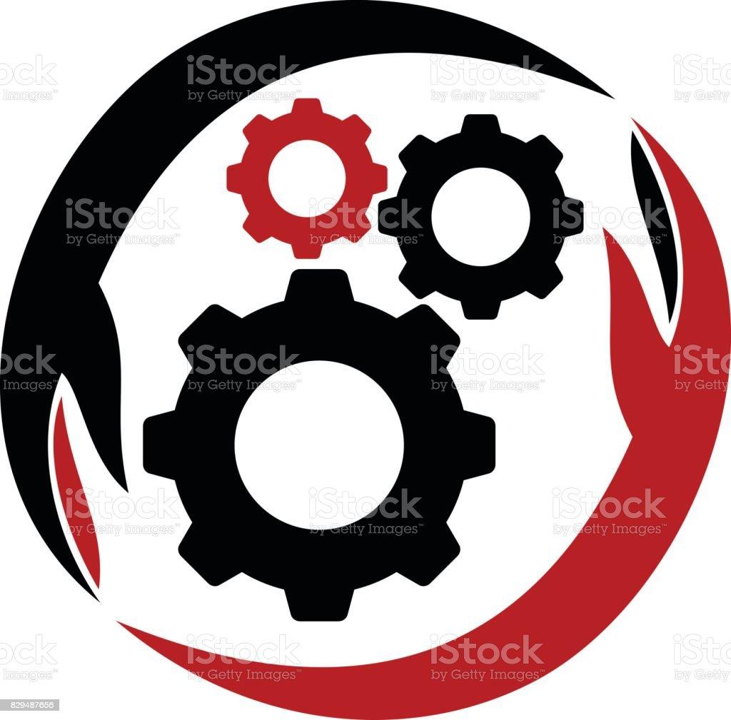 Gear Solution vector art illustration
