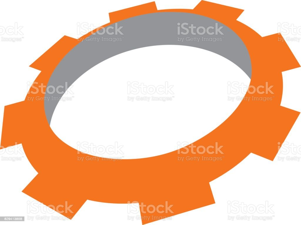 Gear Template Stock Vector Art & More Images of Biological Process ...