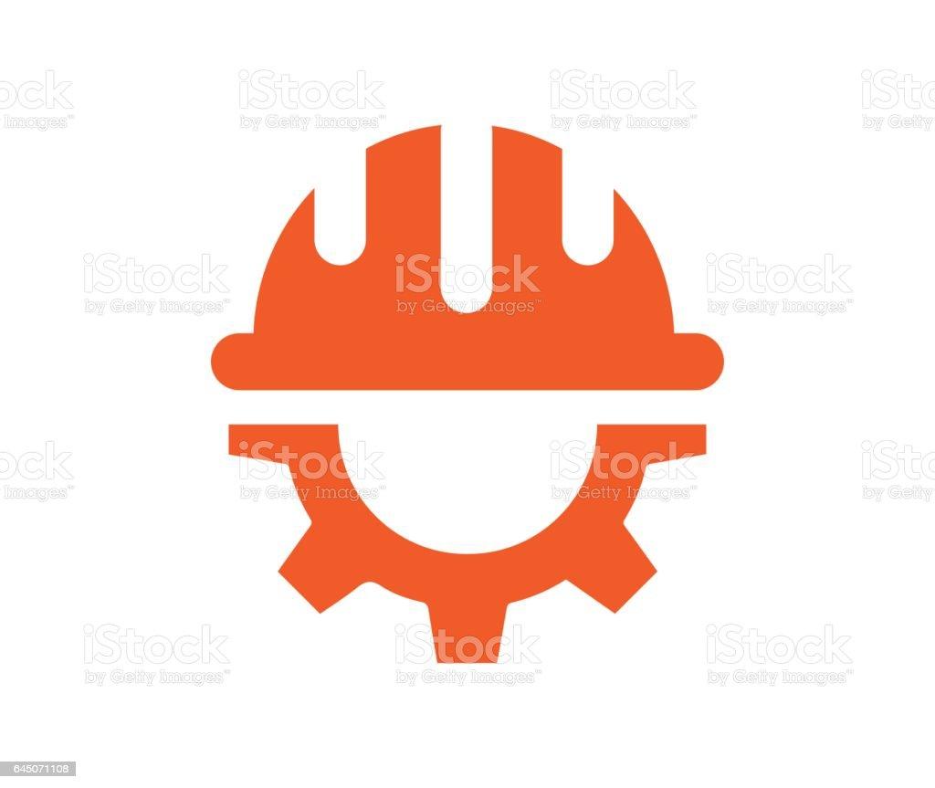 Ausrüstung mit Helm Icon-design – Vektorgrafik