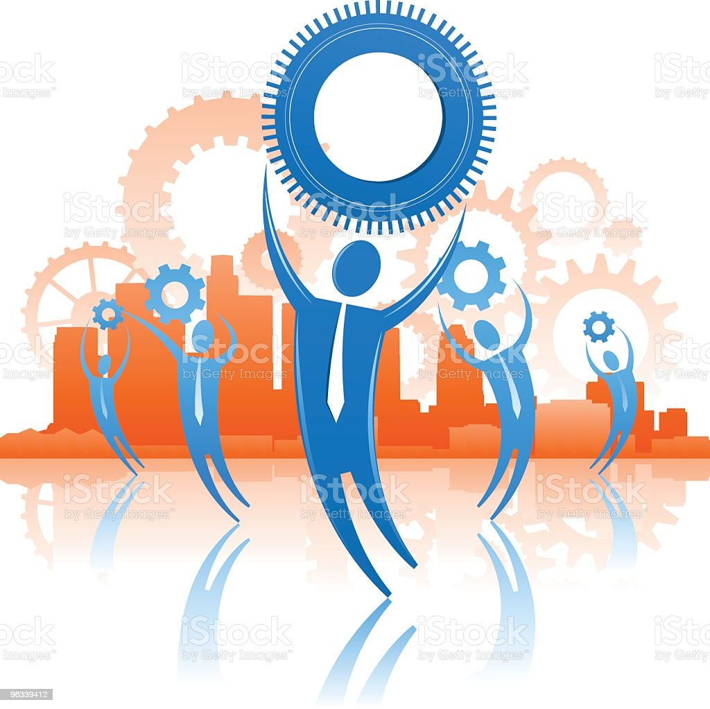 Gear Workers royalty-free gear workers stock vector art & more images of blue