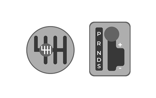 Gearbox icon set. Simple set of manual gearbox vector icons for web design on white background