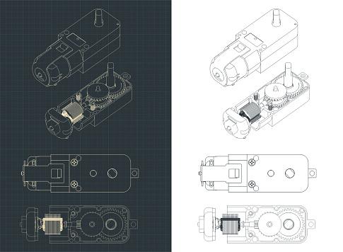 Geared Motor DC blueprints