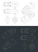 istock Geared Motor DC drawings 1262315895