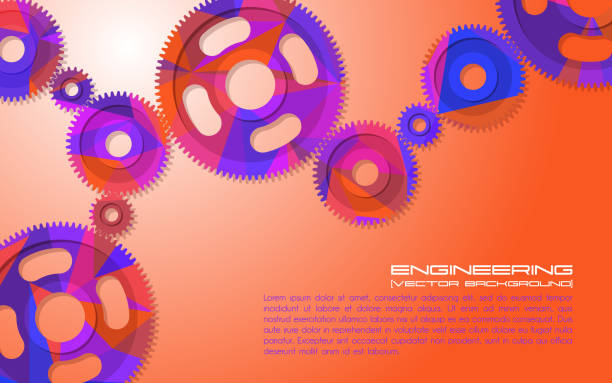 Gears. Abstract background for technical webpage. Vector illustration. Gears. Abstract background for the technical site page: support, engineering, development, other. Vector illustration with place for text. gearshift stock illustrations