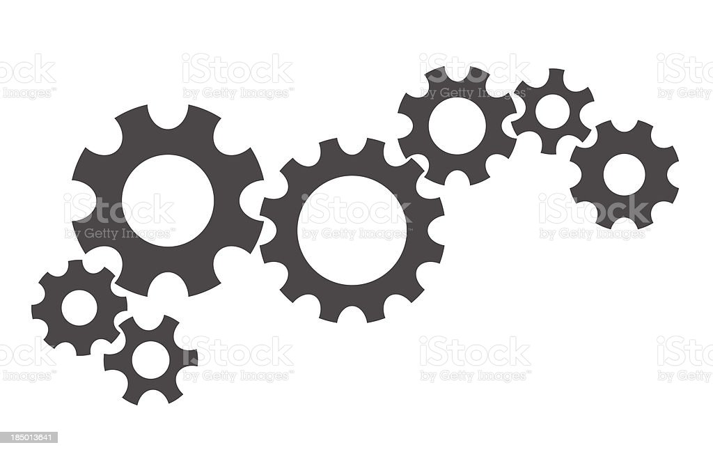 gears abstract background vector art illustration