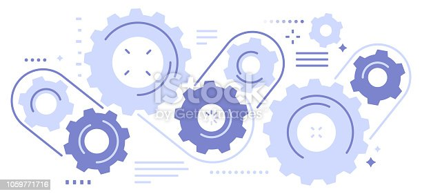 Seamless abstract gears background pattern.