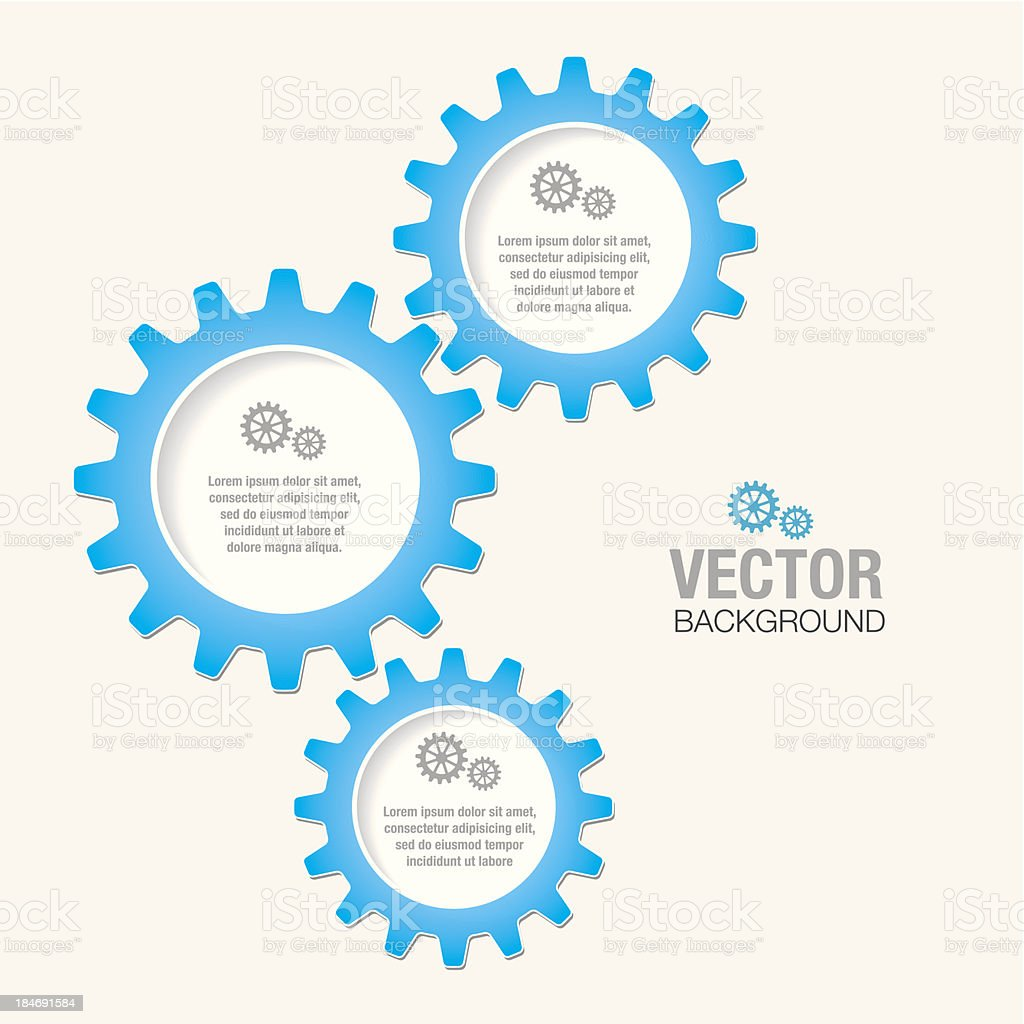 Gears and Cogs vector art illustration