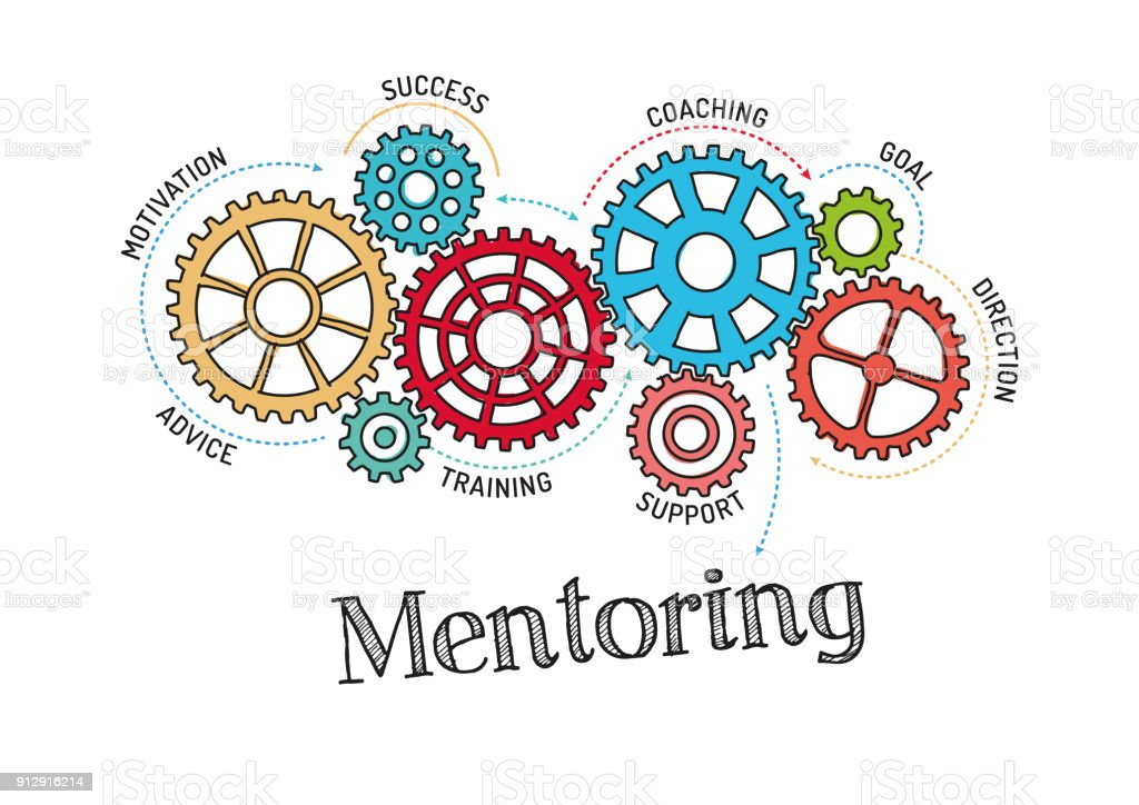 Gears and Mentoring Mechanism royalty-free gears and mentoring mechanism stock illustration - download image now