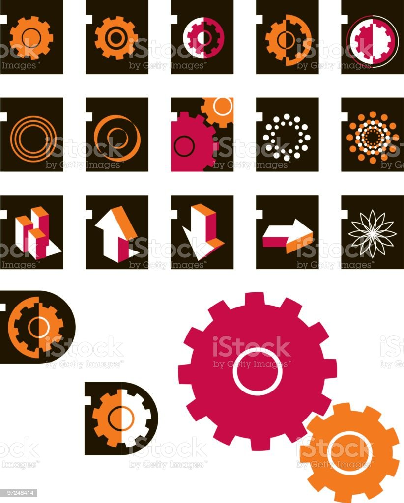 Gears and more royalty-free stock vector art