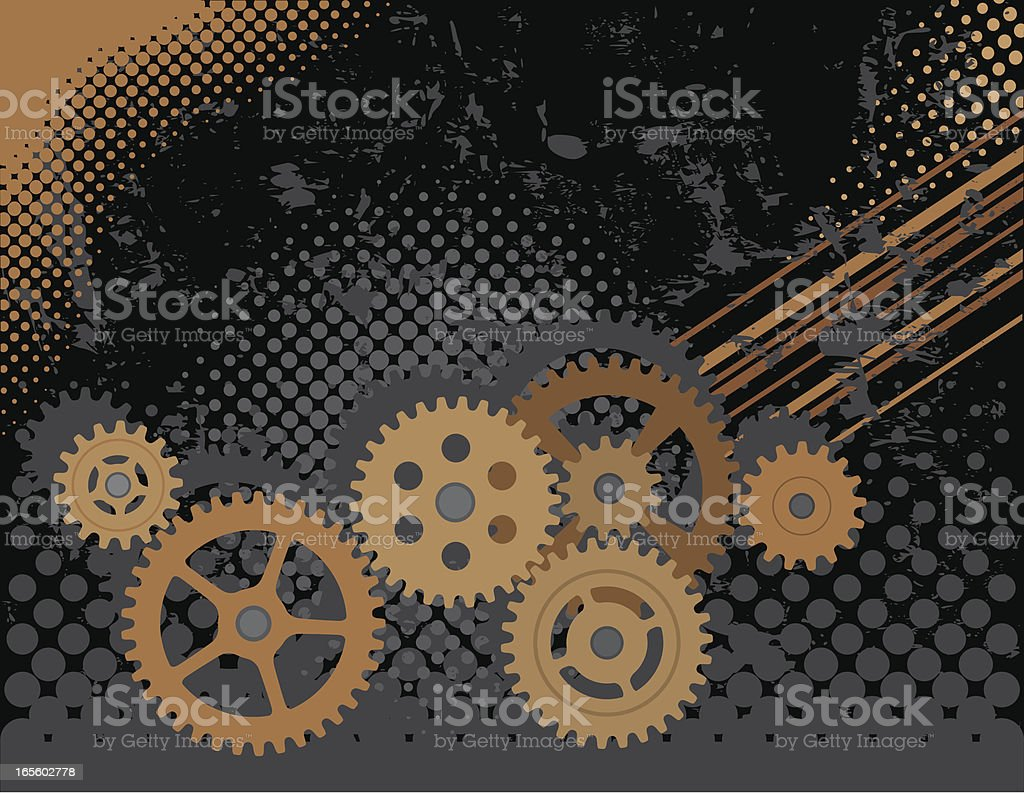 Gears Background royalty-free stock vector art