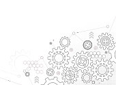gears and cogs design background copy space