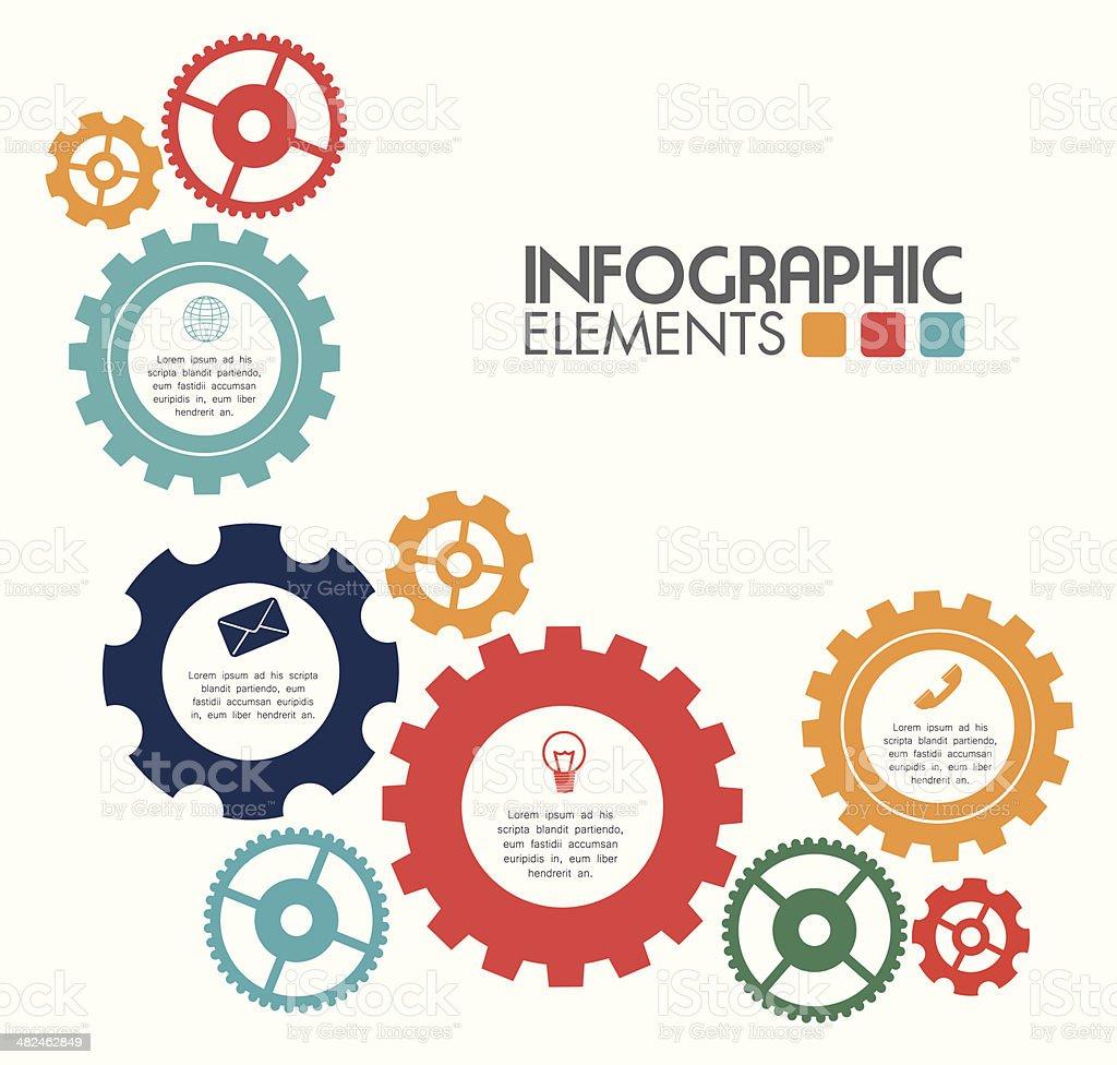 gears design vector art illustration